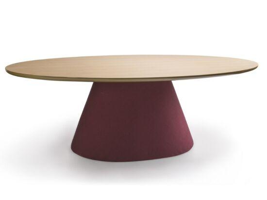 Oslo étkezőasztal tölgy páccal és burgundi lábbal 200x115 cm
