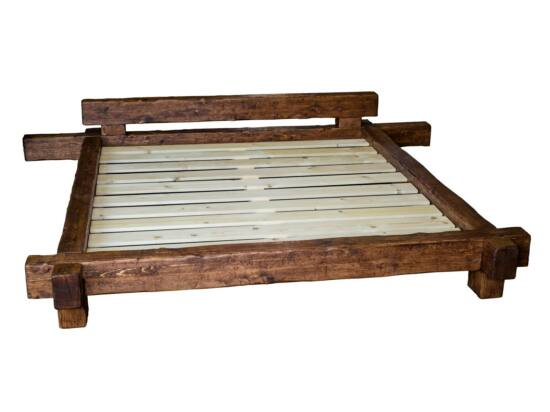 Antikolt fenyő gerenda ágy 140x200 PF-104