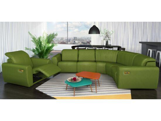 Rio nagy karfás sarokülő, 2 elektromos fotel elemmel, zöld