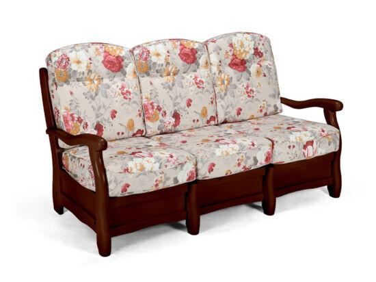 Róma dió virágos 3 személyes kanapé