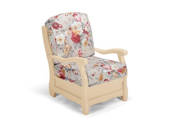 Róma milk virágos fotel