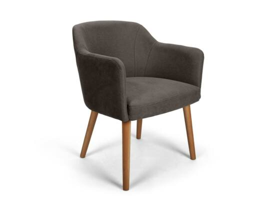 Sofia fekete kárpitos szék
