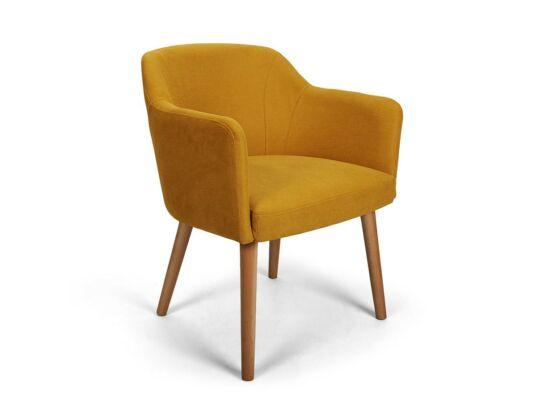 Sofia sárga kárpitos szék