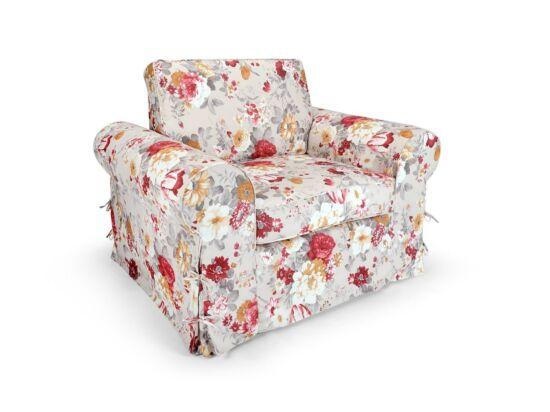 Sydney piros virágos fotel