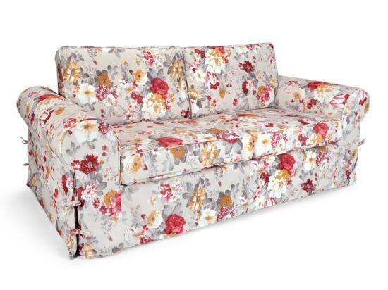 Sydney 2 személyes kanapé piros virágos