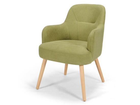 Toledo zöld karfás szék