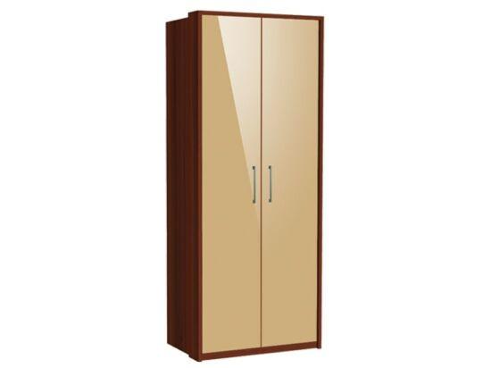 Zeppelin 2 ajtós szekrény cappuccino fronttal