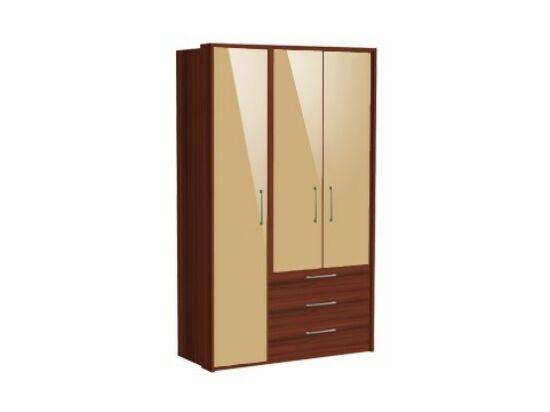 Zeppelin 3 ajtós, fiókos szekrény cappuccino ajtókkal