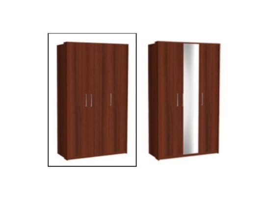 Zeppelin 3 ajtós szekrény csokoládébarna