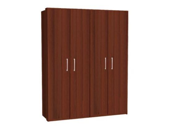 Zeppelin 4 ajtós szekrény csokoládé ajtókkal