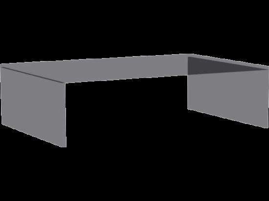 Zeppelin kiegészítő üvegrátét éjjeliszekrényre L42