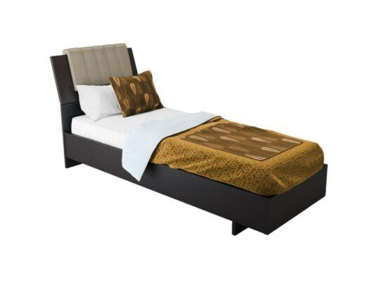 Box ágy matractartóval wenge színben 90x200