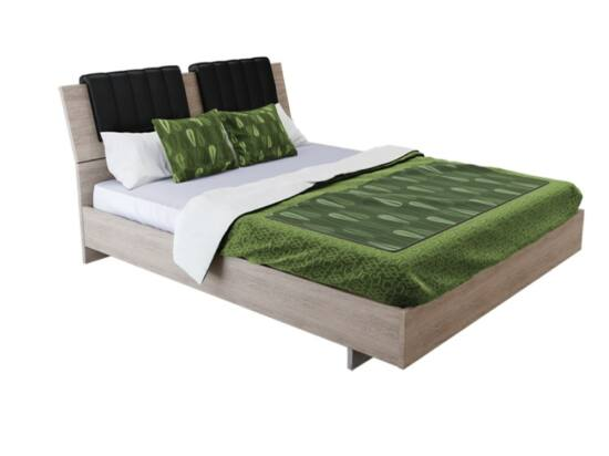 Box ágy matractartóval olasz tölgy színben 180x200