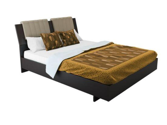 Box ágy matractartóval wenge színben 180x200